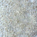 PRECIOSA rokajl 8/0 krystal se stříbrným průtahem - 50 g