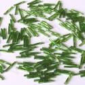 PRECIOSA čípky 15 mm - sv. zelená se stříbrným průtahem - 25 g
