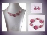 AKCE - Náhrdelník, náramek a náušnice z mačkaných perlí
