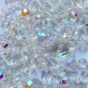 MIX broušených perlí - krystal AB