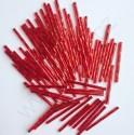PRECIOSA čípky 35 mm - červená se stříbrným průtahem - 25 g
