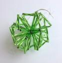 """Vánoční ozdoba """"koule"""" z čípků - zelená - materiál"""