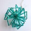 """Vánoční ozdoba """"koule"""" z čípků - tyrkysová do zelena - materiál"""