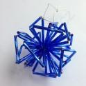 """Vánoční ozdoba """"koule"""" z čípků - modrá - materiál"""
