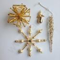 Vánoční ozdoba hvězda zlatá