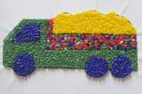 Materiál na obrázek s korálky - náklaďák