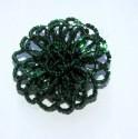 Brož - kytička - tmavě zelená