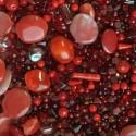 Perle - červené č. 5 - ramš 250g