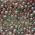 Perle - voskové smetanovo-růžovo-zelené č. 3 - ramš 250g