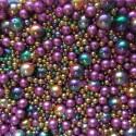 Perle - voskové fialovo-zeleno-žluté č. 2 - ramš 250g