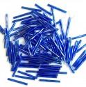 PRECIOSA čípky 25 mm - modrá se stříbrným průtahem - 25 g