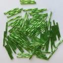 PRECIOSA čípky 25 mm - světle zelená se stříbrným průtahem - 25 g