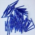 PRECIOSA čípky 30 mm - modré se stříbrným průtahem - 25 g