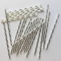 PRECIOSA čípky 60 mm dlouhány krystalové se stříbrným průtahem - 25 g