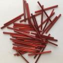 PRECIOSA čípky 35 mm - tm.červená se stříbrným průtahem- 25 g