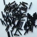 PRECIOSA čípky 15 mm - černé kroucené - 25 g