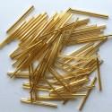 PRECIOSA čípky 35 mm - zlaté se stříbrným průtahem - 25 g