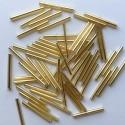 PRECIOSA čípky 25 mm - zlatá se stříbrným průtahem - 25 g