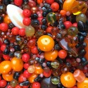 Perle - oranžovo-hnědé č. 6 - ramš 250g