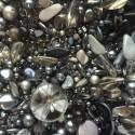 Perle - šedo-stříbrné č. 3 - ramš 250g
