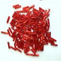 """PRECIOSA čípky 5"""" - 11 mm - červené se stříbrným průtahem - 25 g"""