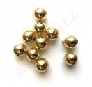 Plastová lata perle - kulička 8 mm zlaté barvy