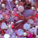 Perle - růžové č. 8 - ramš 250g