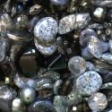 Perle - šedo-stříbrné č. 4 - ramš 250g