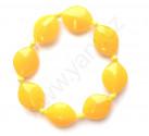 Náramek žluté čočky malé