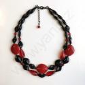 Náhrdelník - černočervený