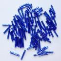 PRECIOSA čípky 20 mm - modrá se stříbrným průtahem - 25 g