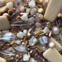Perle - béžovo-zlaté č. 5 - ramš 250g