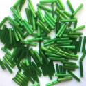 PRECIOSA čípky 15 mm - zelený atlas - 25 g
