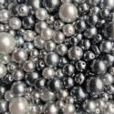 Perle - voskové šedo-hematitové  č.2 - ramš 250g