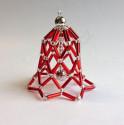 Vánoční ozdoba zvoneček - barva červená - materiál