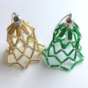Vánoční ozdoba zvoneček - barva zlatá - materiál