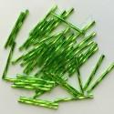 PRECIOSA čípky 35 mm - světle zelené se stříbrným průtahem - 25 g