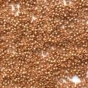 PRECIOSA rokajl 10/0 - galvanický, růžové zlato - 50 g