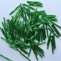 PRECIOSA čípky 35 mm - středně zelená se stříbrným průtahem - 25 g