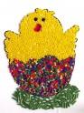 Materiál na velikonoční obrázek s korálky - kuřátko