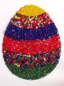 Materiál na velikonoční obrázek s korálky - vejce