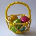Materiál na výrobu velikonočního košíčku - žlutý