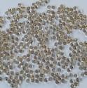 PRECIOSA drops 8/0 krystal se zlatým průtahem - 10 g